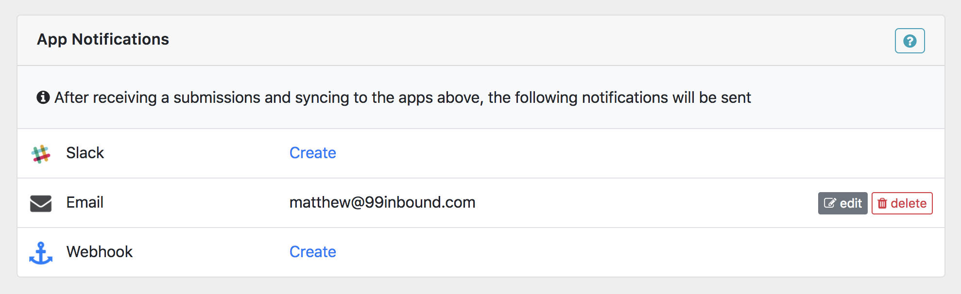 Form Notifications